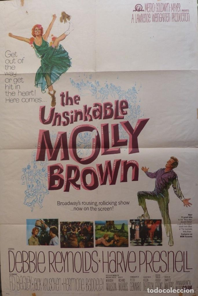 THE UNSINKABLE MOLLY BROWN MOVIE POSTER,1964, METRO-GOLDWYN-MAYER. (Cine - Posters y Carteles - Musicales)