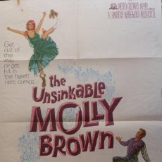 Cine: THE UNSINKABLE MOLLY BROWN MOVIE POSTER,1964, METRO-GOLDWYN-MAYER.. Lote 113519715