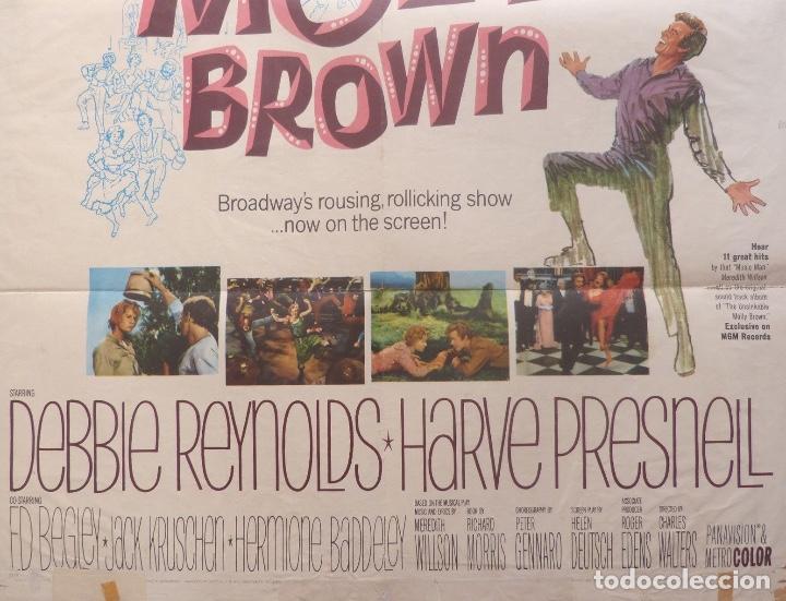 Cine: The unsinkable molly brown movie poster,1964, Metro-Goldwyn-Mayer. - Foto 2 - 113519715
