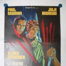 Cine: LE RIDEAU DECHIRE - ALFRED HITCHCOCK - CARTEL LITOGRAFICO ORIGINAL FRANCES 80 X 60. Lote 113520559