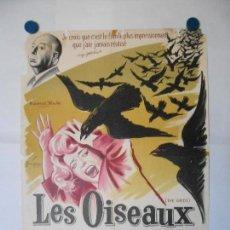 Cine: LES OISEAUX - ALFRED HITCHCOCK - CARTEL LITOGRAFICO ORIGINAL FRANCES 80 X 60. Lote 113520675