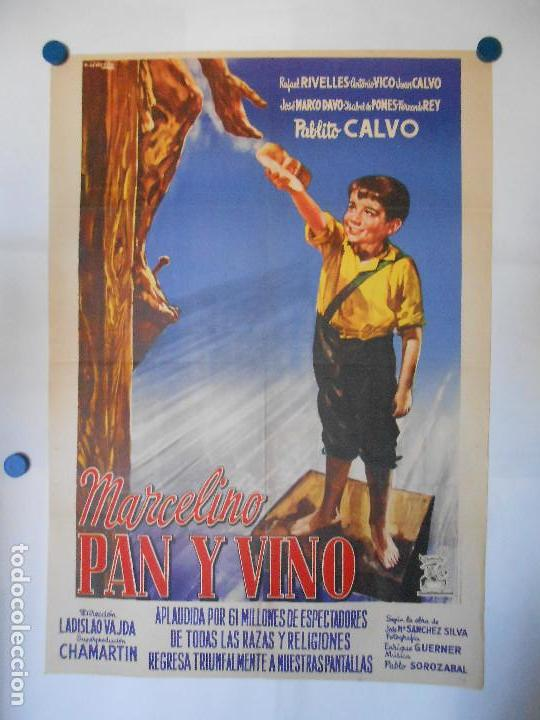 MARCELINO PAN Y VINO - CARTEL ORIGINAL 70 X 100 (Cine - Posters y Carteles - Clasico Español)