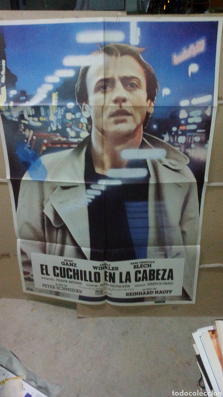 EL CUCHILLO EN LA CABEZA BRUNO GANZ REINHARD HAUFF POSTER ORIGINAL 70X100 YY (1800) (Cine- Posters y Carteles - Drama)