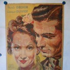Cine: LA SEÑORITA SE DIVORCIA - VENTURI - CARTEL ORIGINAL ARGENTINO - 110 X 75. Lote 113620187