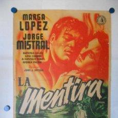 Cine: LA MENTIRA - CARTEL LITOGRAFICO ORIGINAL 70 X 100. Lote 113620675