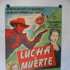 Cine: LUCHA A MUERTE - CARTEL LITOGRAFICO ORIGINAL 70 X 100. Lote 113621927
