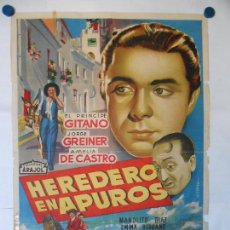 Cine: HEREDERO EN APUROS - CARTEL LITOGRAFICO ORIGINAL 70 X 100. Lote 113623659