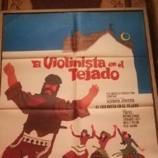 Cine: EL VIOLINISTA EN EL TEJADO (TOPOL) CARTEL ORIGINAL (1971)(1MX070). Lote 113787359