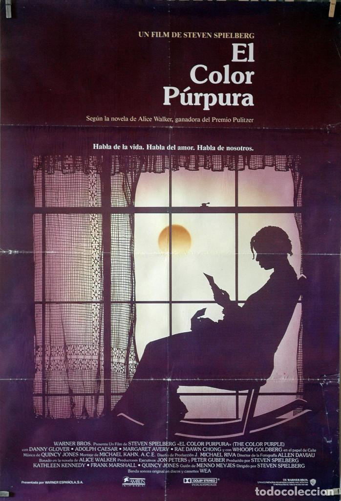 EL COLOR PÚRPURA. STEVEN SPIELBERG. CARTEL ORIGINAL 70X100 (Cine- Posters y Carteles - Drama)