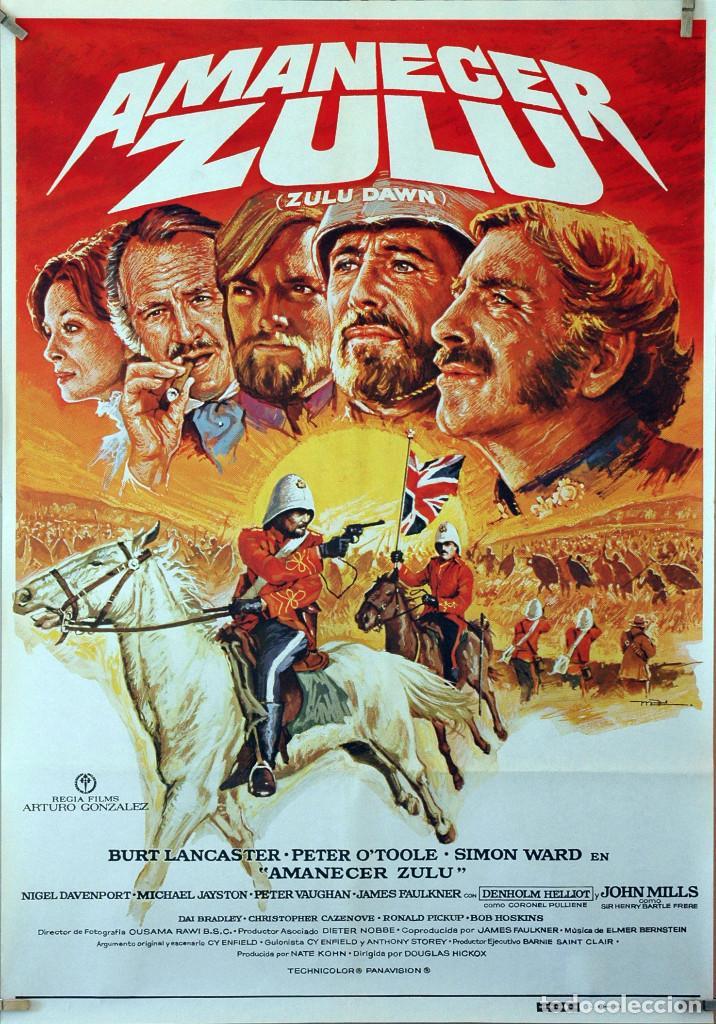 AMANECER ZULÚ. BURT LANCASTER-PETER O´TOOLE. CARTEL ORIGINAL 1979. 70X100 (Cine - Posters y Carteles - Aventura)
