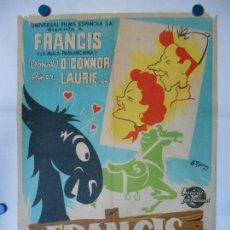 Cine: FRANCIS EN LAS CARRERAS - CARTEL LITOGRAFICO ORIGINAL 70 X 100. Lote 114172043