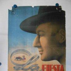 Cine: LA FIESTA SIGUE - CARTEL LITOGRAFICO ORIGINAL 70 X 100. Lote 114172515