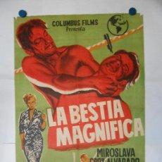 Cine: LA BESTIA MAGNIFICA - CARTEL LITOGRAFICO ORIGINAL 70 X 100. Lote 114176923