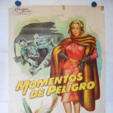 Cine: MOMENTOS DE PELIGRO - CARTEL LITOGRAFICO ORIGINAL 70 X 100. Lote 114177043