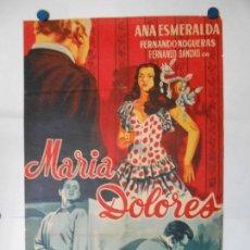 Cine: MARIA DOLORES - CARTEL LITOGRAFICO ORIGINAL 70 X 100. Lote 114177487
