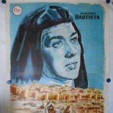 Cine: TERESA DE JESUS - CARTEL ORIGINAL 140 X 100 - DOS HOJAS. Lote 114177879