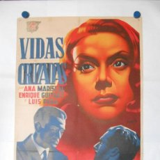 Cine: VIDAS CRUZADAS - CARTEL LITOGRAFICO ORIGINAL 70 X 100. Lote 114179159