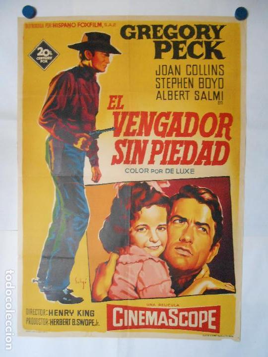 EL VENGADOR SIN PIEDAD - SOLIGO - CARTEL LITOGRAFICO ORIGINAL 70 X 100 (Cine - Posters y Carteles - Westerns)