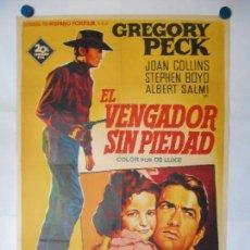 Cine: EL VENGADOR SIN PIEDAD - SOLIGO - CARTEL LITOGRAFICO ORIGINAL 70 X 100. Lote 114180031