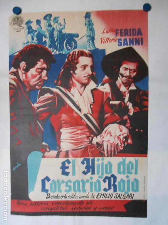 EL HIJO DEL CORSARIO ROJO - CARTEL LITOGRAFICO ORIGINAL 70 X 100 (Cine - Posters y Carteles - Aventura)