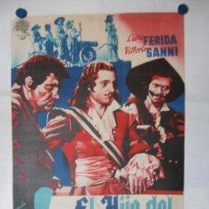 Cine: EL HIJO DEL CORSARIO ROJO - CARTEL LITOGRAFICO ORIGINAL 70 X 100. Lote 114346278