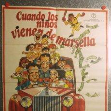 Cine: CUANDO LOS NIÑOS VIENEN DE MARSELLA. MANOLO ESCOBAR, SARA LEZANA, ANTONIO GARISA. AÑO 1974.. Lote 114282463