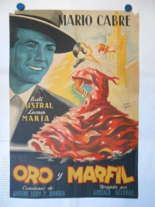 ORO Y MARFIL - CARTEL LITOGRAFICO ORIGINAL - 70 X 100 (Cine - Posters y Carteles - Clasico Español)