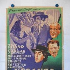 Cine: VERANEO EN ESPAÑA - CARTEL LITOGRAFICO ORIGINAL - 70 X 100. Lote 114331555