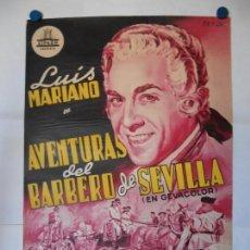 Cine: AVENTURAS DEL BARBERO DE SEVILLA - PERIS ARAGO - CARTEL LITOGRAFICO ORIGINAL - 70 X 100. Lote 114331647