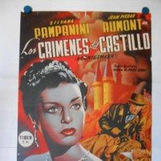 Cine: LOS CRIMENES DEL CASTILLO - CARTEL LITOGRAFICO ORIGINAL - 70 X 100. Lote 114332111