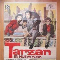 Cine: CARTEL CINE, TARZAN EN NUEVA YORK, JOHNNY WEISSMULLER, ALVARO, 1966, C767. Lote 114383195