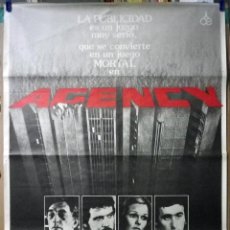 Cine: ORIGINALES DE CINE: AGENCY (ROBERT MITCHUM) 70X100. Lote 114494835