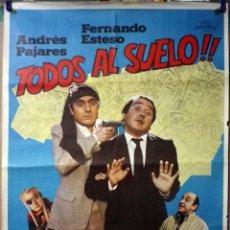 Cine: ORIGINALES DE CINE: TODOS AL SUELO (ANDRÉS PAJARES Y FERNANDO ESTESO) 70X100. Lote 114495283