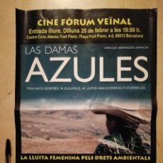 Cine: CARTEL ORIGINAL - LAS DAMAS AZULES - ARCHIVO - BÉRENGÈRE SARRAZIN - DOCUMENTAL - FEMINISMO. Lote 114495671