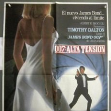 Cine: QS61 007 ALTA TENSION JAMES BOND TIMOTHY DALTON POSTER ORIGINAL 70X100 ESTRENO. Lote 114880055