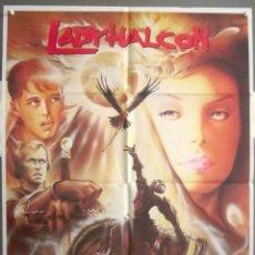 Cinéma: YH18 LADY HALCON MICHELLE PFEIFFER RUTGER HAUER POSTER ORIGINAL 70X100 ESTRENO. Lote 114880779