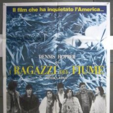 Cine: QS67 RIVER'S EDGE KEANU REEVES DENNIS HOPPER POSTER ORIGINAL ITALIANO 100X140. Lote 114912131
