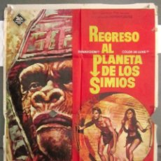 Cine: YI77 REGRESO AL PLANETA DE LOS SIMIOS CHARLTON HESTON JAMES FRANCISCUS POSTER ORIG 70X100 ESTRENO. Lote 115000387