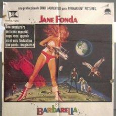 Cine: YI75 BARBARELLA JANE FONDA ROGER VADIM SEXY SCI-FI POSTER ORIGINAL 70X100 ESTRENO. Lote 115000819