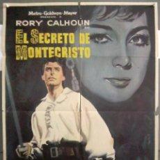 Cine: YI64 EL SECRETO DE MONTECRISTO RORY CALHOUN POSTER ORIGINAL 70X100 ESTRENO. Lote 115002715
