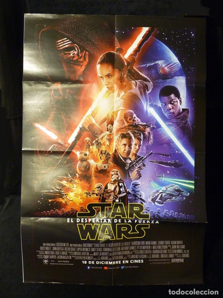 POSTER ORIGINAL STAR WARS. EL DESPERTAR DE LA FUERZA. 78X52 CM. NUEVO (Cine - Posters y Carteles - Ciencia Ficción)