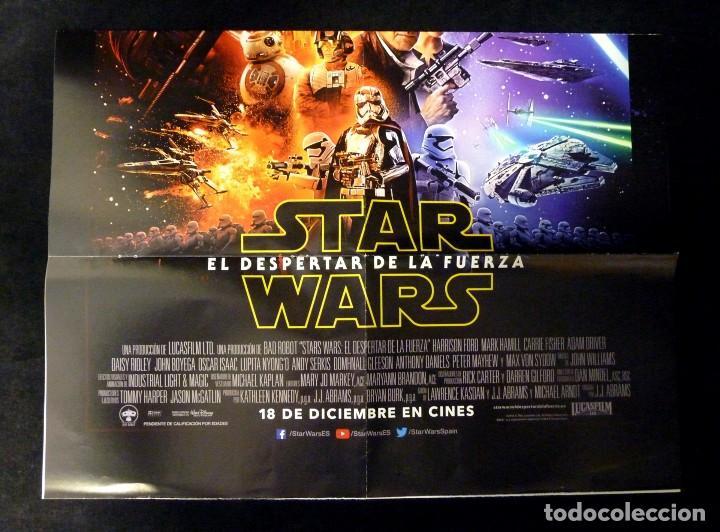 Cine: POSTER ORIGINAL STAR WARS. EL DESPERTAR DE LA FUERZA. 78x52 cm. NUEVO - Foto 2 - 115085923