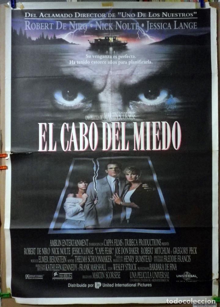 ORIGINALES DE CINE: EL CABO DEL MIEDO 70X100 (Cine - Posters y Carteles - Aventura)