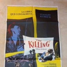Cine: CARTEL ORIGINAL THE KILLING ATRACO PERFECTO DE STANLEY KUBRICK 100 CM X 70 CM. Lote 115124619