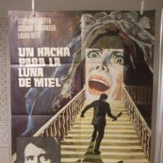 Cine: CARTEL DE CINE ORIG. UN HACHA PARA LA LUNA DE MIEL (1970) 70X100 / MARIO BAVA. Lote 115183779