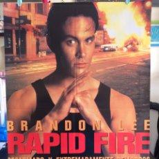 Cine: POSTER RAPID FIRE 70X100 ORIGINAL CINE BRANDON LEE. Lote 115368716