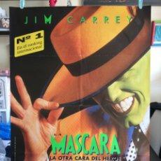 Cine: POSTER LA MASCARA 70X100 ORIGINAL CINE JIM CARREY. Lote 115369750