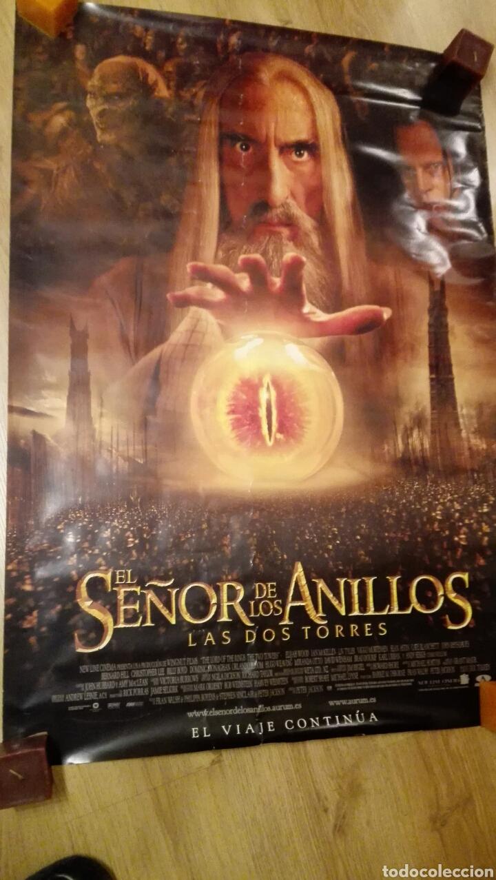 POSTER DOBLE CARA DE EL SE?OR DE LOS ANILLOS LAS DOS TORRES 68 X 96 CMS (Cine - Posters y Carteles - Ciencia Ficción)