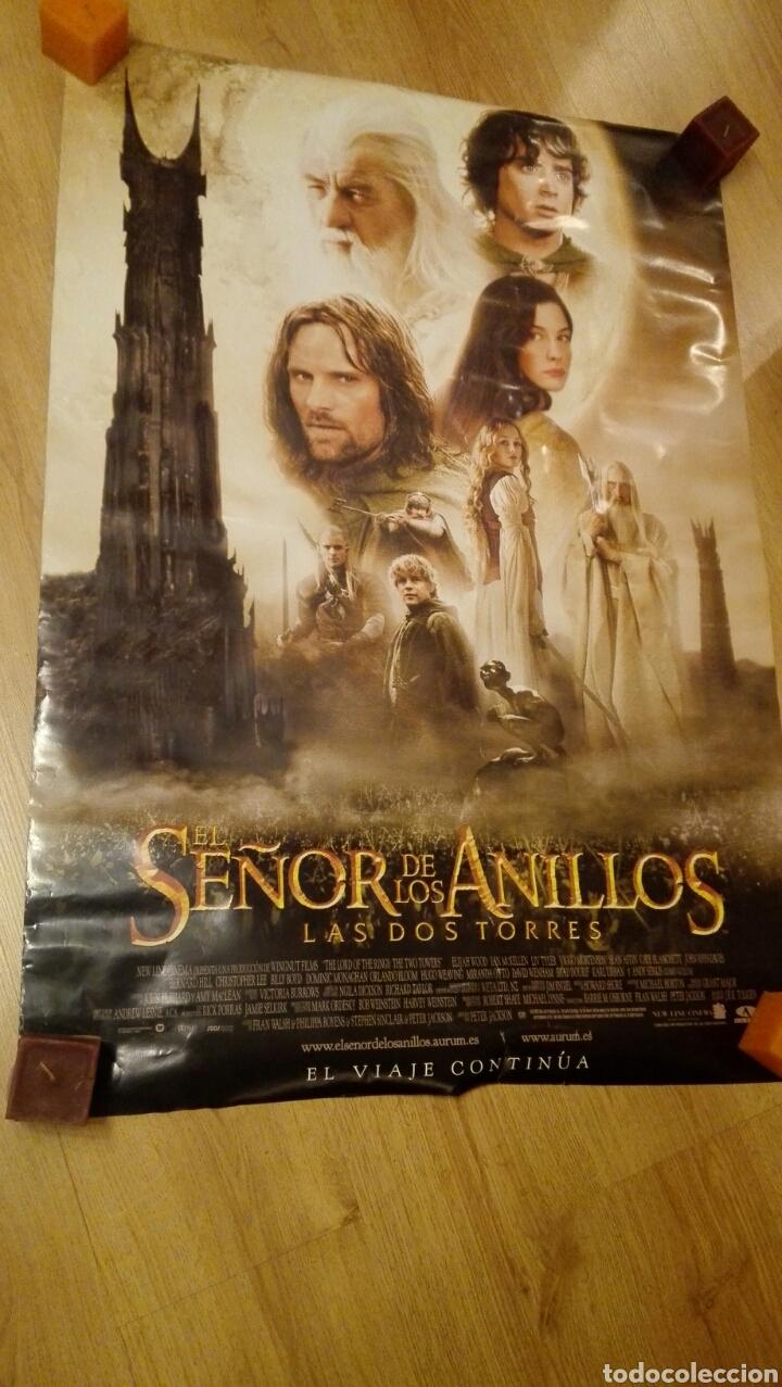 Cine: Poster doble cara de El Seňor de los Anillos Las Dos Torres 68 x 96 cms - Foto 2 - 115531286