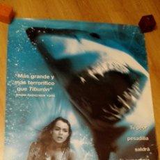 Cine: POSTER DE LA PELICULA DEEP BLUE SEA TAMAÑO 96 X 66 CMS. Lote 115531376